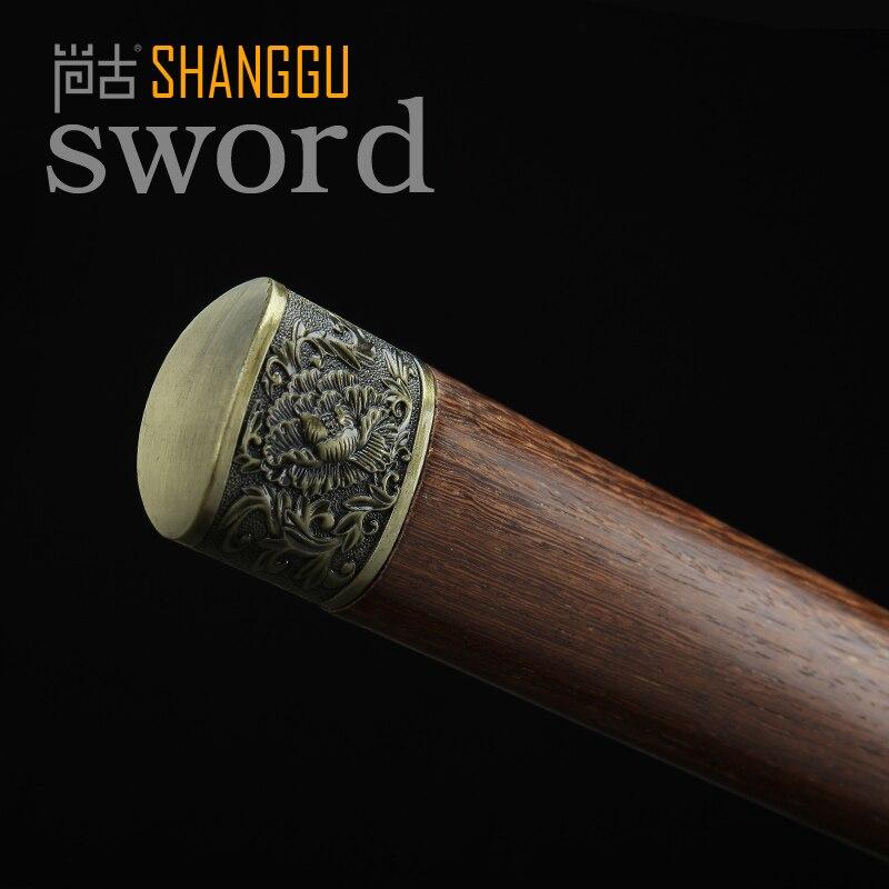 Samuray Qılıncı ilə yüklənmiş 20 düymlük Peony Naxış Tunc, - Ev dekoru - Fotoqrafiya 4