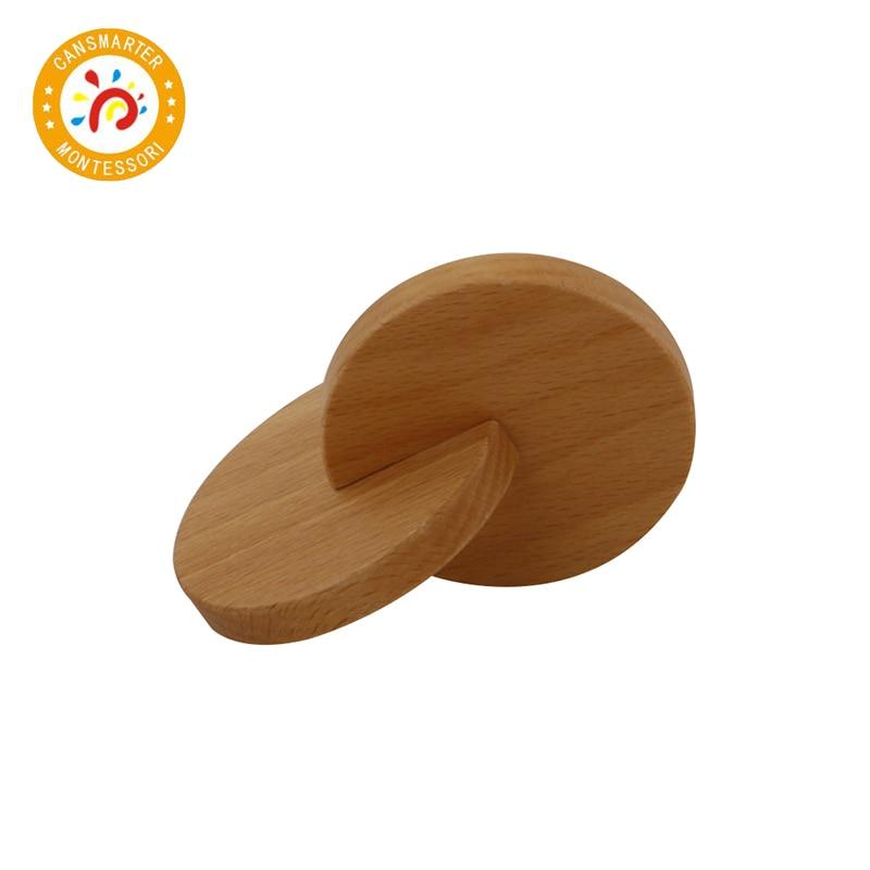 Montessori Babies Toy Wooden Interlocking Discs Early Education