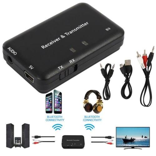 Ernst Drahtlose Bluetooth 4,2 Sender Empfänger 3,5mm Aux Audio Adapter Für Tv Auto Wireless Adapter Tragbares Audio & Video Unterhaltungselektronik