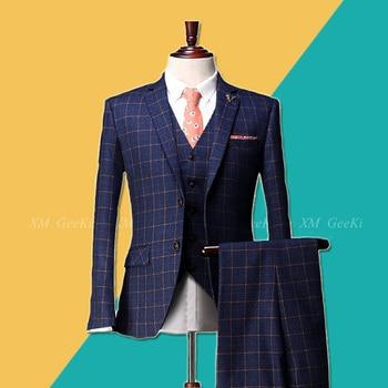 22788daff8 Nuevo traje de moda de alta calidad para hombre