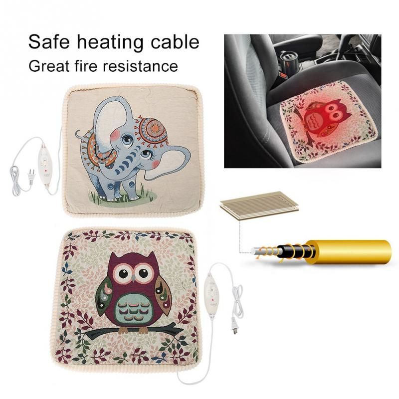 Beauty & Health Honesty Universal Electric Winter Linen Heating Seat Cushions Cute Retro Pattern Office Home Chair Pad Massage & Relaxation To Have Both The Quality Of Tenacity And Hardness