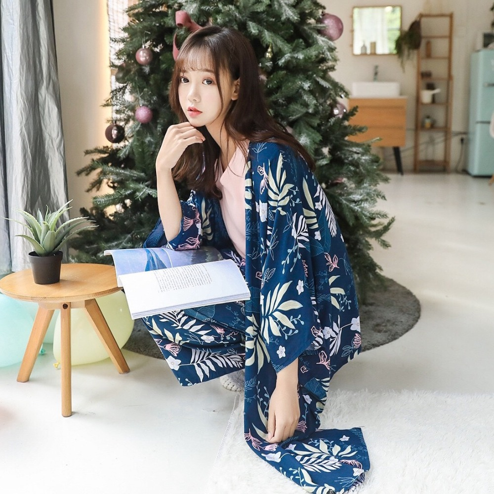 Image 3 - Women Cotton Sleepwear 4 Pieces Pyjamas Sexy Pajamas Sleep Lounge Pijama Night Home Clothing Pajama Suit Pijama Femme M XL-in Pajama Sets from Underwear & Sleepwears