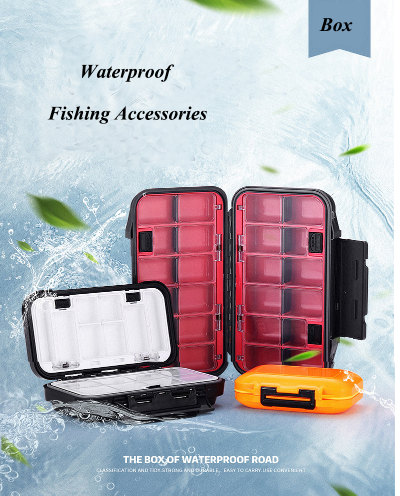 3 Size Small Large Waterproof Multi-fuctional Fly Fishing Box Fishing Tackle Accessories Storage Box Fishing Hook Box Pesca