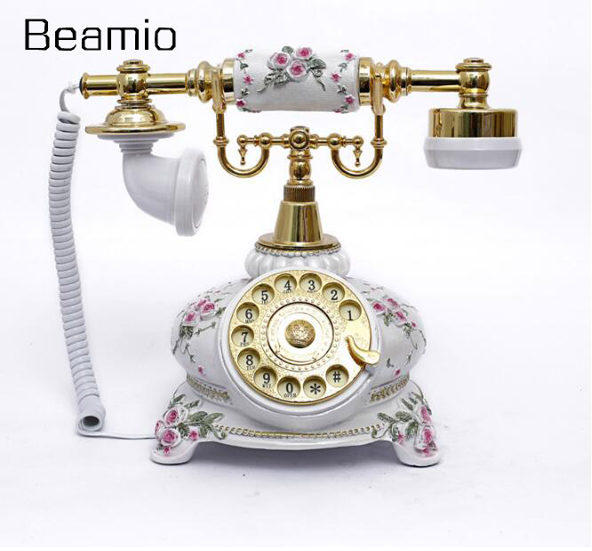 European Fashion Vintage Swivel Plate Telephone Antique Telephone Landline Office Phone Home