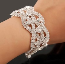 5pcs/lot lady wedding Bridal party  luxury Jewelry Crystal Rhinestone bracelet Bracelet jb093