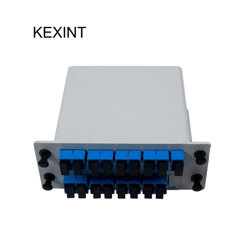 WHOLESALE PLC Splitter Cassette type 1*16 Insertion /LGX / Fiber Optic PLC Splitter SC/UPC / 10pieces