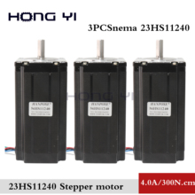 цена на 3pcs NEMA23 stepper motor 57x112mm 4-lead 4A 3N. m / Nema 23 motor  428Oz-in for 3D printer for CNC engraving milling machine