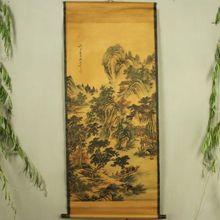 Antique collection Imitation ancient Zhang Daqian landscape painting diagram