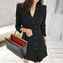 4e85312ef2aad LMCAVASUN coreano señoras de la Oficina de corte Slim con cuello en V  chaqueta mujer doble Breasted Sexy Mini Outwear traje