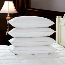 2016 New Design White Duck Down Pillows Neck Health Care Pillow 100% Fine Cotton Allow The Down/Feather To Breathe Free Shipping