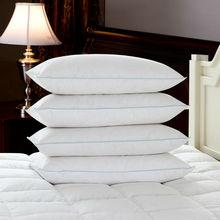 Peter Khanun New Brand Design White Duck Feather Pillows Neck Health Care Pillow 100 Cotton Shell