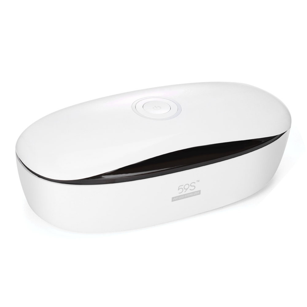 Kit de limpiador de uñas para cosméticos con caja de esterilizador LED inteligente de 59 s, dispositivo de desinfección UV, esterilizador, estuche para salón de manicura, Splitters