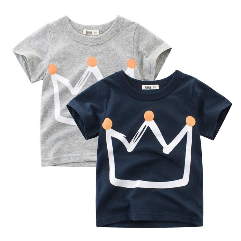 Children T-Shirt Boys O--neck Cotton Shirts Short Sleeve Casual Top kids