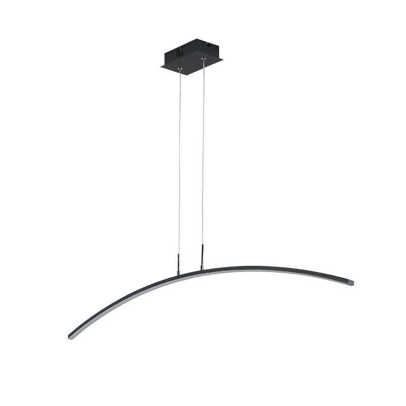 Poste moderne Simple pendentif LED lumières nordique salle à manger bureau créatif noir blanc fer art Arcuate Droplight LED éclairage