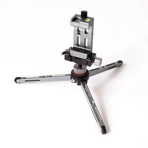Image 4 - XILETU MT26 + XT15 アルミ合金デスクトップブラケットミニ卓上三脚一眼レフカメラ用ミラーレスカメラスマートフォン
