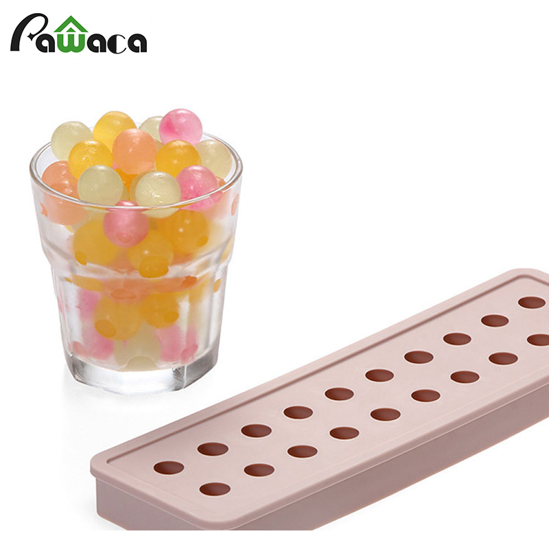Summer design DIY 20 Hole Ice Ball Drinking Wine Tray Brick Round Maker Mold Sphere Mould Party Bar food grade Silicone Ice Mold