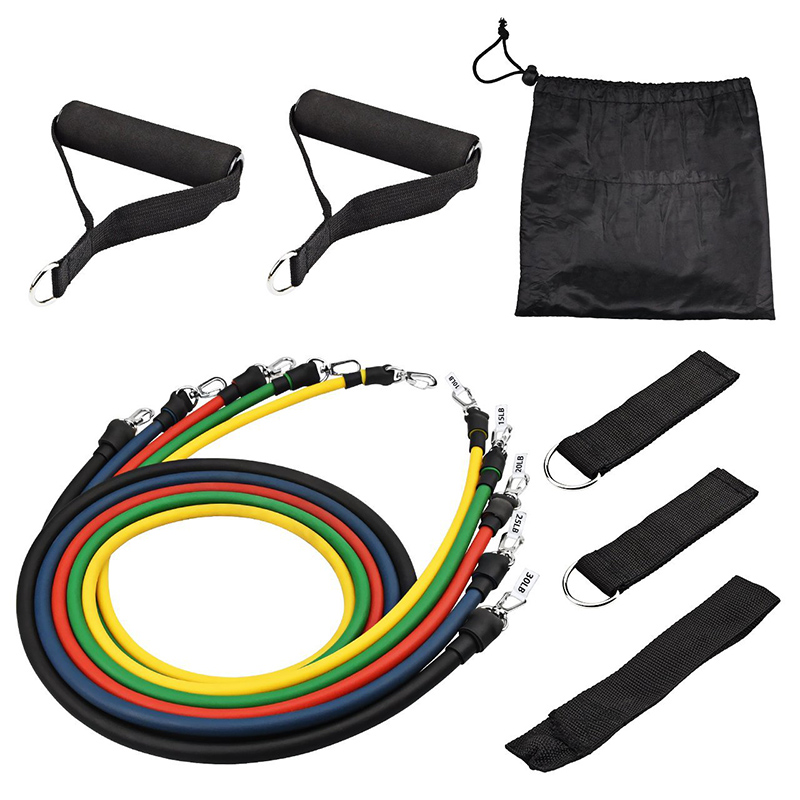 11pcs Resistance Band Set Yoga Pilates Pull Rope Home Workouts Rehabilitation Fitness Latex Sport Crossfit Strength Training in Resistance Bands from Sports Entertainment