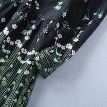 spring dress 2018 womans clothing fashionable floral print runway dress sash tie bow collar long sleeve a line maxi shirt dress