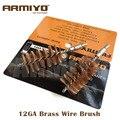 Armiyo 12ga calibre 12 18.5mm caliber cleaner bronze barril escova de limpeza do fio tamanho da rosca do parafuso m4 * 7mm caça arma acessórios
