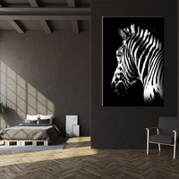 Nordic Canvas Painting Abstract Art Posters And Prints Animals Zebra Elephant Wall Art Decorative Pictures For Living Room Decor
