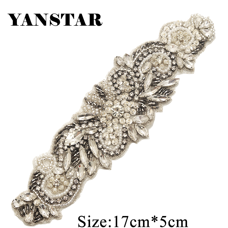 bdea0f5cac best top rhinestones applique for wedding sash list and get free ...