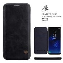 Для samsung Galaxy S9 плюс Чехол Nillkin Qin Винтаж Флип кожаный чехол Бизнес чехол для телефона для samsung S9 S8 плюс S7 край Coque