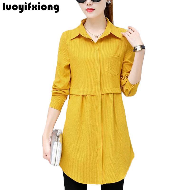 2019 New Autumn Work Shirt Women Plus Size Blouse Long Sleeve Blouses Shirts Blusas Femininas Business Wear Casual Women Tops