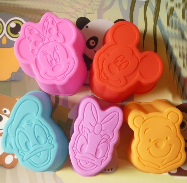 6pcs Lot Mickey Mouse Winnie Daisy Donald Duck Minnie 3d
