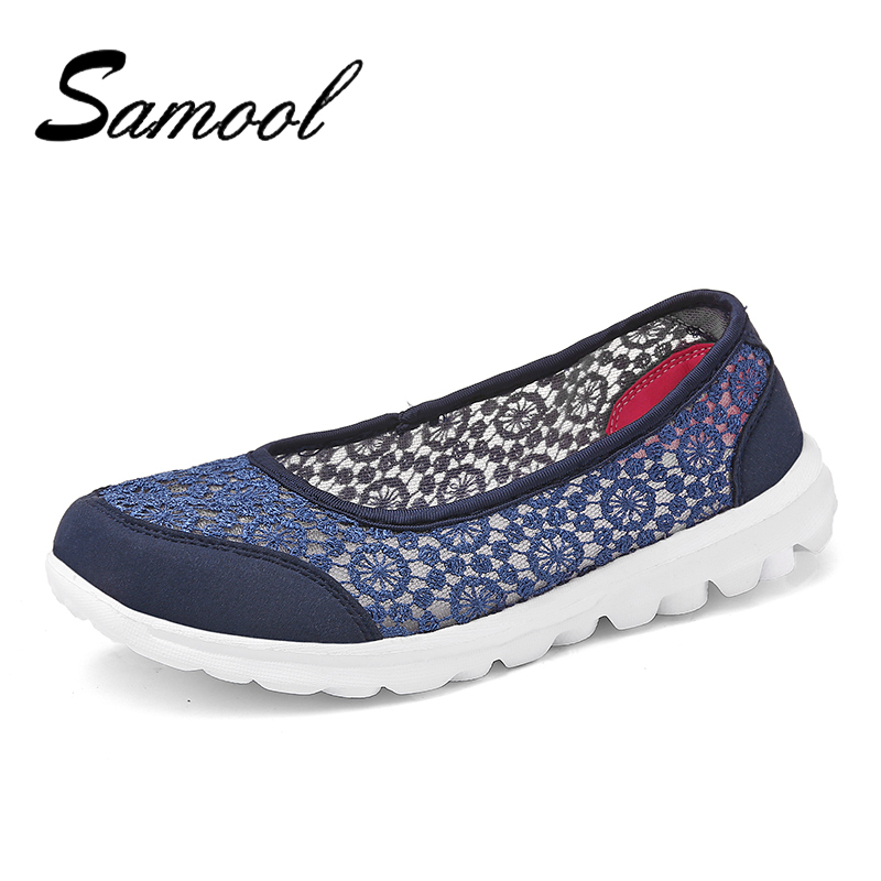 Summer Elderly Women Walking Breathable Shoes Safety Outdoor Travel Damping Dance Ladies Comfortable Non-Slip Swoman Shose Lx5
