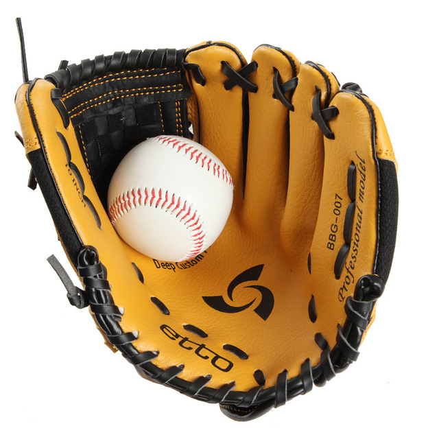 Etto Brand 10 Inches Children Baseball Gloves Left/Right Hand High Quality Professional Baseball Training Gloves For Kids 2