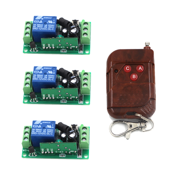 Remote Control Switches DC 9V 24V Remote Switch Relay Learning Small Receiver Transmiter Learning Smart 315/433MHZ