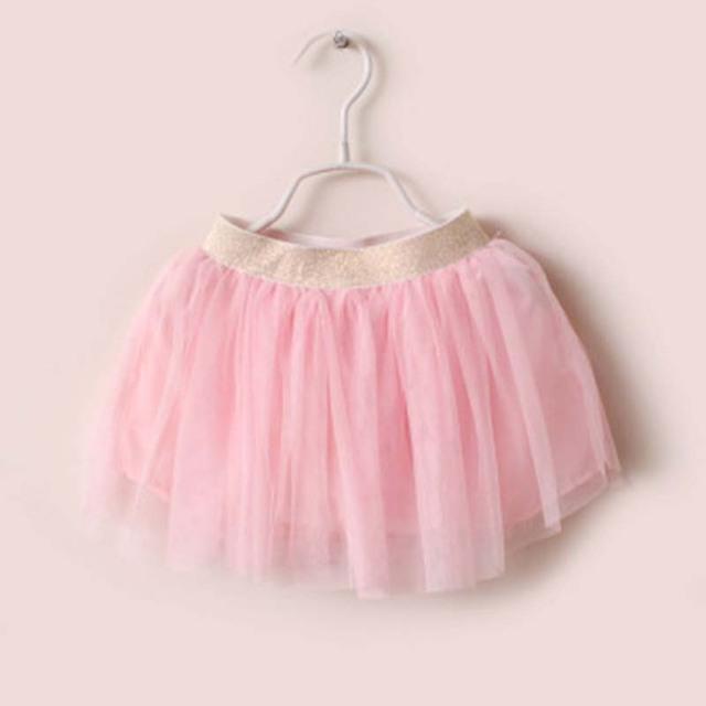 2017 Niños Del Resorte Falda de Encaje Falda de Cintura Nuevo Niño de los Bebés Salvaje estilo Rodilla-Longitud de Princesa Party Falda YD045