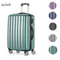 2017 Fochier 24 Inch ABS PC Hard Shell Travel Luggage Cabin Trolley Suitcase With TSA Lock