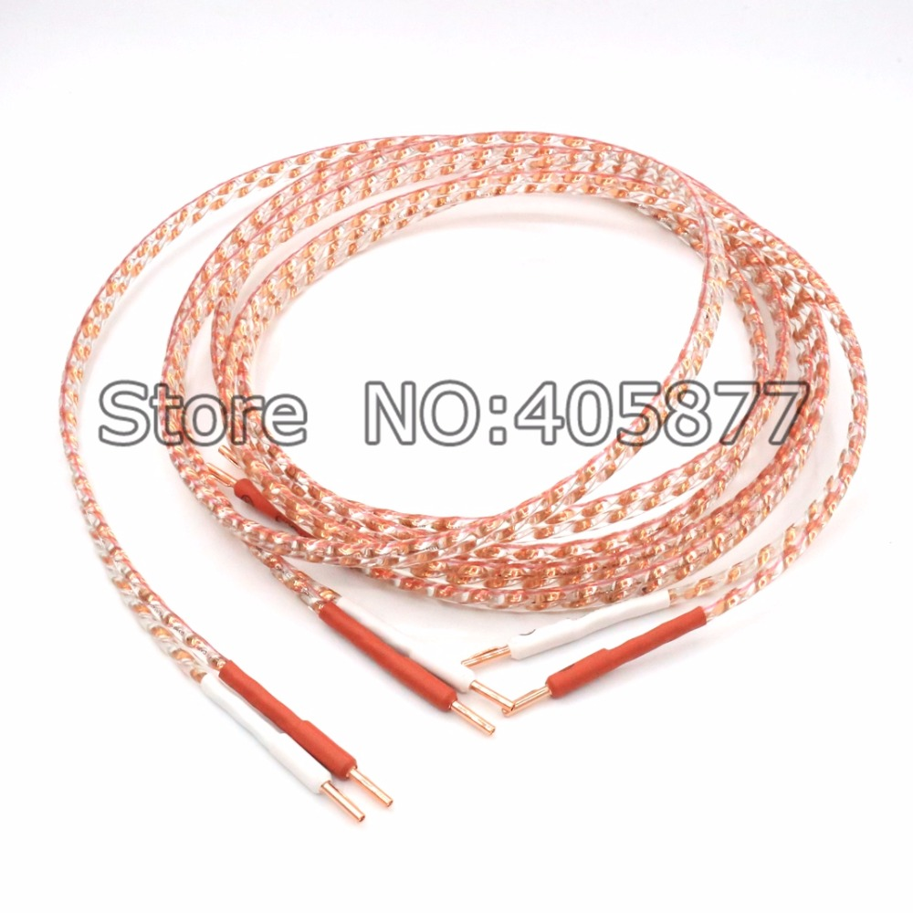 2.5m Pair Yarbo FP-108FS speaker cable with flat copper viborg pure copper banana plug