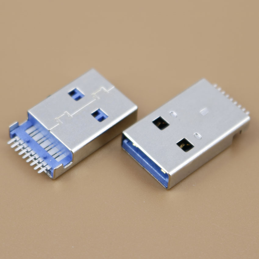 1pcs High speed Rosh Male USB 3.0 wire socket Sink A type jack 180 degree SMT for U disk