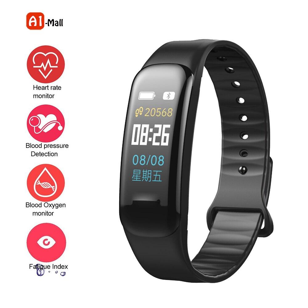 Smart Band Blutdruck Herz Rate Monitor Armband Wasserdichte Fitness smart Armband Schlaf Tracker uhr pk mi band 2 3