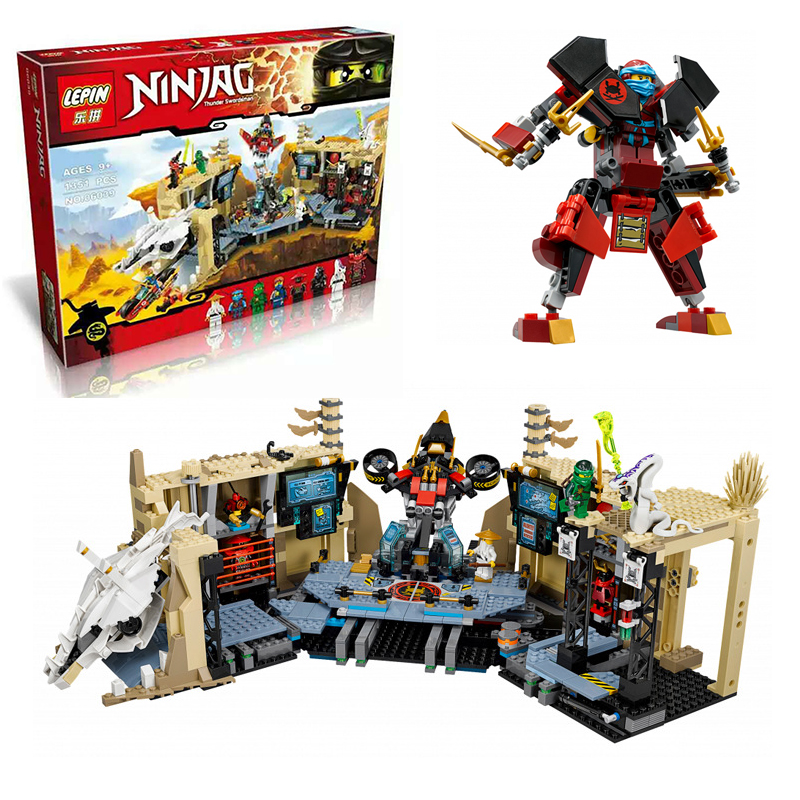 ФОТО LEPIN 06039 Model building kits compatible with lego city Ninja Samurai X blocks Educational model building toys hobbies