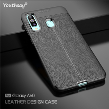 For Samsung Galaxy A60 Case SM-A606 Luxury Leather Silicon Fundas Cover