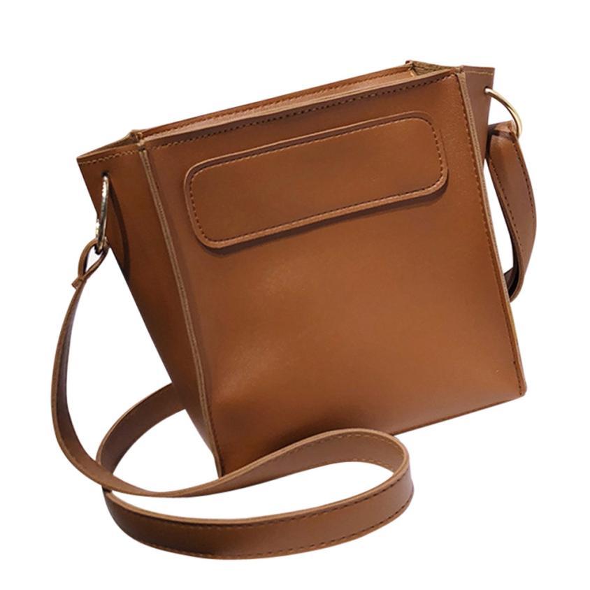 Женская Мода PU Простой Кожаная Сумка через плечо сумка Для женщин Сплошной Цвет Молния Тотализатор Сумка-мешок # F