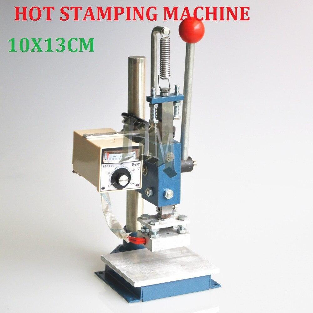 Best Quality 10X13CM Manual Hot Foil Stamping Machine Leather Printer Creasing Machine Marking Press Embossing Machine