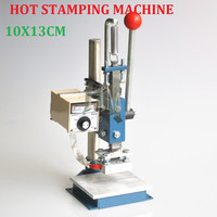 Best Quality 10X13CM Manual Hot Foil Stamping Machine Leather Printer Creasing Machine Marking Press Embossing Machine