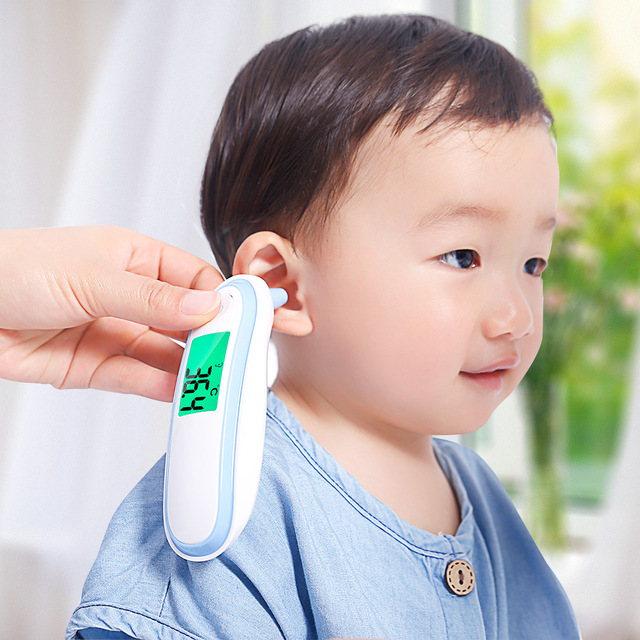 3 in 1 Health Care Set / LED Fingertip Pulse Oximeter + LCD Blood Pressure Monitor + Ear Infrared Thermometer 2