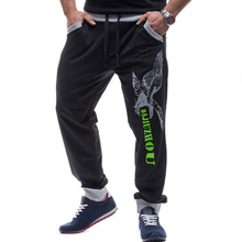 Fashion 2017 New Autumn winter men letters printed hip hop hot sell through selling elastic waist beam foot leg Hop pants