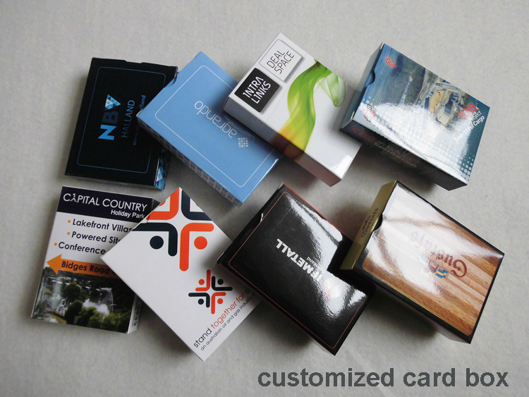 With customized full color printed logo give away promo get brand paper playing cards wholesale