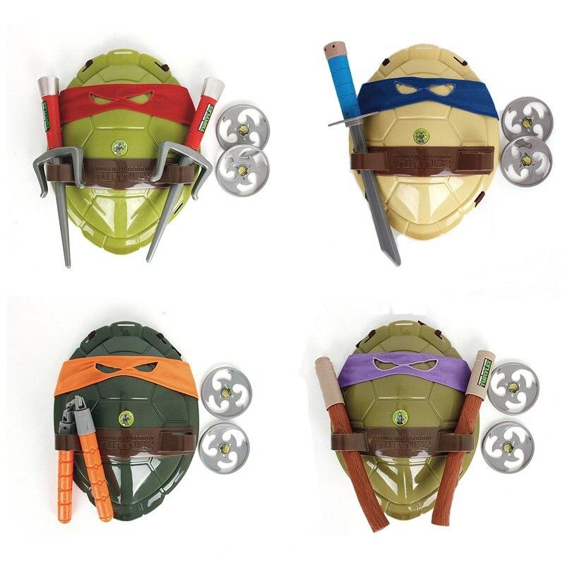 NOVAS Tartarugas Tartarugas Shell Armadura Armas de Brinquedo para Crianças Presentes de Aniversário Linda Festa de Máscaras Cosplay Máscara Presentes para as crianças