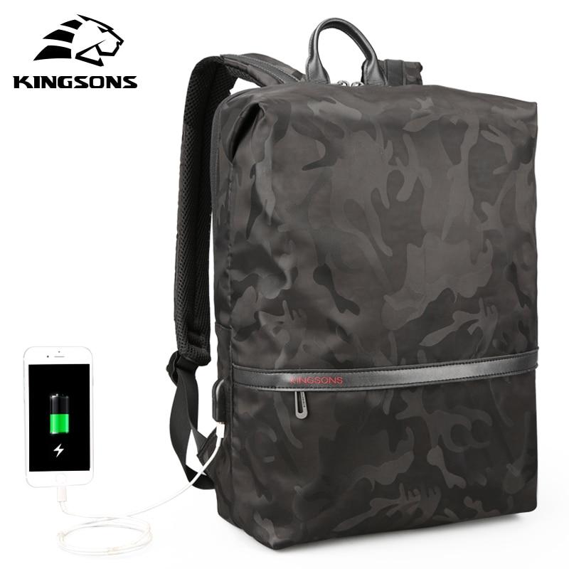 Kingsons Lightweight Soft Men Women Fashion Leisure Backpack Travel Backpack 15.6 inches Laptop Backpack Student School Bag