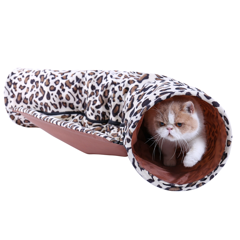 Cat Tunnel Conbine with Sleeping Bed Design Foldable 2 Holes Multifunction Toys for Animals Play Long Tunnel Kitten Cat Toys