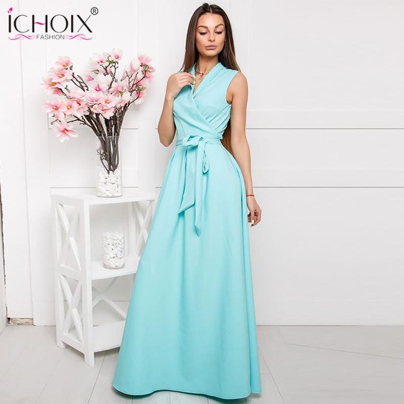 990e1501ea52b4a Элегантные летние длинные платья для женщин с v-образным вырезом  сексуальное Макси платье стиль женское вечернее платье длиной до пола  vestidos.