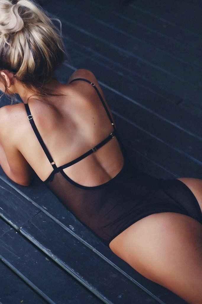 2019 Mới Nhất Phong Cách Phụ Nữ New Ladies Sexy Ren Lưới Sheer Xem Qua Backless Không Tay Bodysuit S-XL
