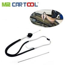 Mr Cartool cilindro de estetoscopio automático, probador de diagnóstico de mecánica automotriz, herramienta de bloqueo de motor de coche, Detector, analizador de motores